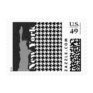 New York, Statue of Libety Houndstooth Postage Stamp
