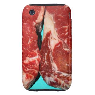 New York Steak Raw Tough iPhone 3 Cases