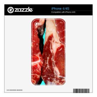 New York Steak Raw iPhone 4 Skins
