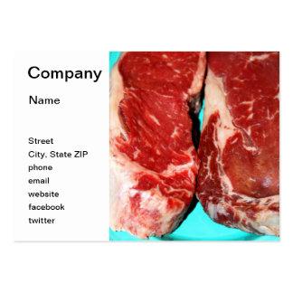 New York Steak Raw Large Business Card