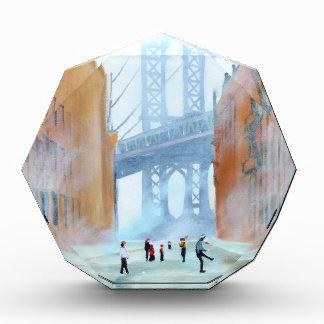 New York stickball Acrylic Award