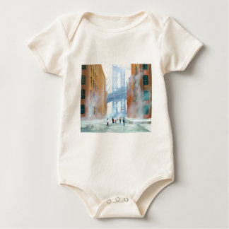 New York stickball Baby Bodysuit