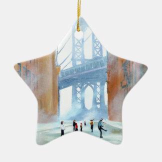 New York stickball Ceramic Ornament
