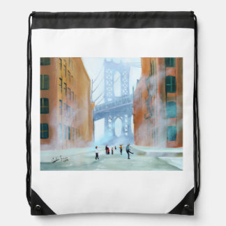 New York stickball Drawstring Backpack