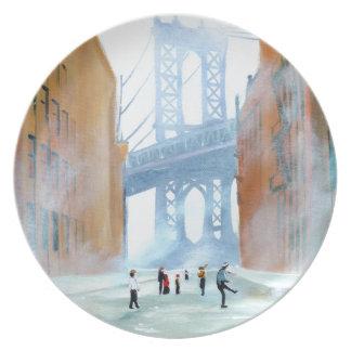 New York stickball Plate