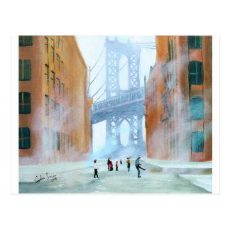 New York stickball Postcard