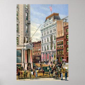 New York Stock Exchange 1882 Poster