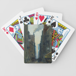 New York Street Scene - Ernest Lawson Bicycle Playing Cards