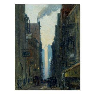 New York Street Scene - Ernest Lawson Postcard