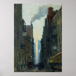 New York Street Scene - Ernest Lawson Poster