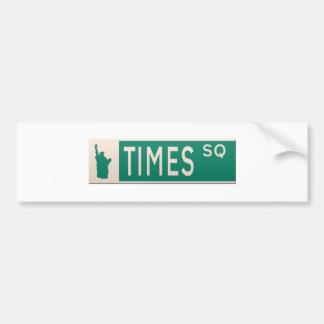 New York street sign - Times Square. Car Bumper Sticker