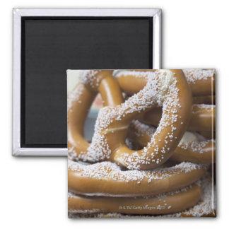 New York street vendor's huge pretzels for sale Magnet