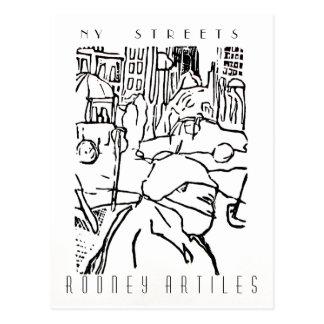 NEW YORK STREETS postcard by Rodney Artiles