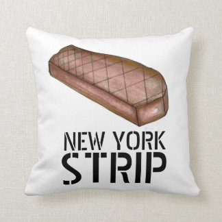 New York Strip NYC Steak Meat Foodie Pillow