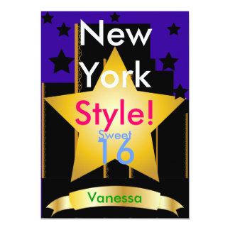 New York Style Sweet Sixteen Invitation-Customize Card