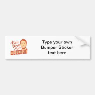 New York Style Weiners Car Bumper Sticker