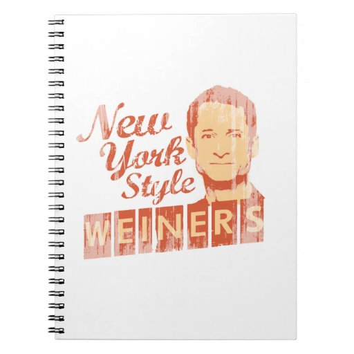 New York Style Weiners Faded.png Spiral Note Books