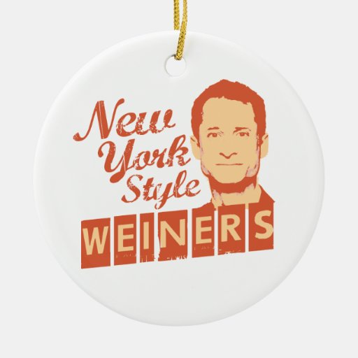 New York Style Weiners Double-Sided Ceramic Round Christmas Ornament