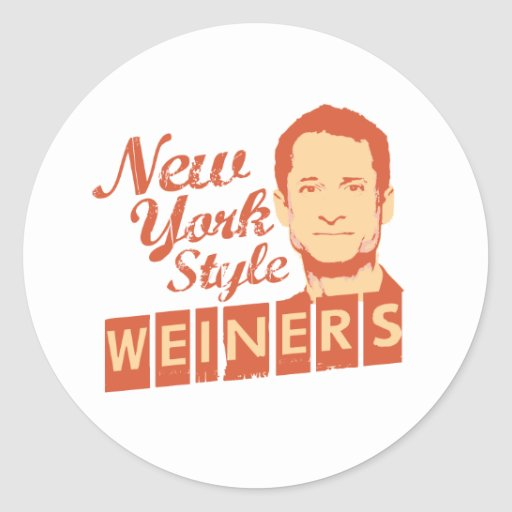 New York Style Weiners Round Sticker