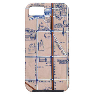 NEW YORK SUBWAY MAP, 1940 2 iPhone SE/5/5s CASE