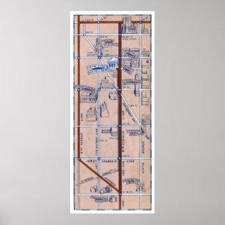 NEW YORK SUBWAY MAP, 1940 2 POSTER