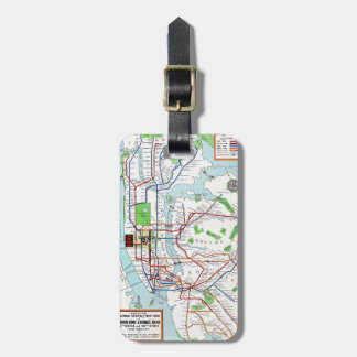 New York: Subway Map, 1940 Bag Tag