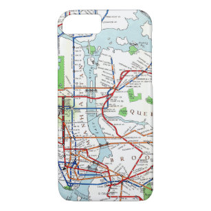 Mta Subway Map For Iphone.Subway Map Iphone 8 7 Cases Covers Zazzle