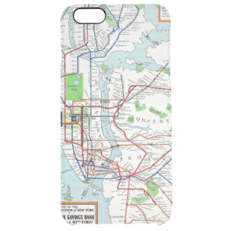 New York: Subway Map, 1940 Clear iPhone 6 Plus Case