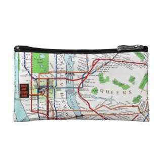 New York: Subway Map, 1940 Cosmetic Bag