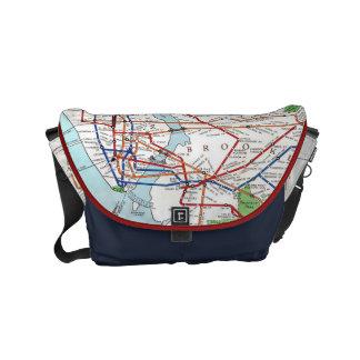 New York: Subway Map, 1940 Small Messenger Bag