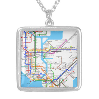 New York Subway Map Necklace