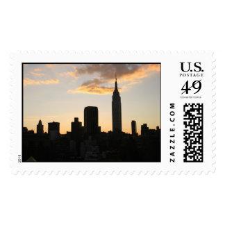 New York Sunset Postage