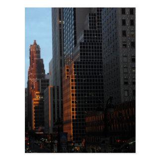 New York - Sunset Postcard