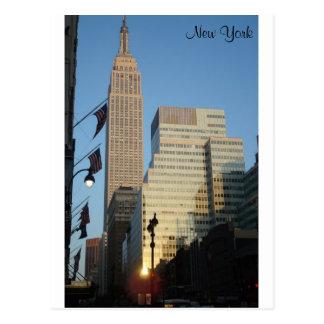 New York Sunset Postcard