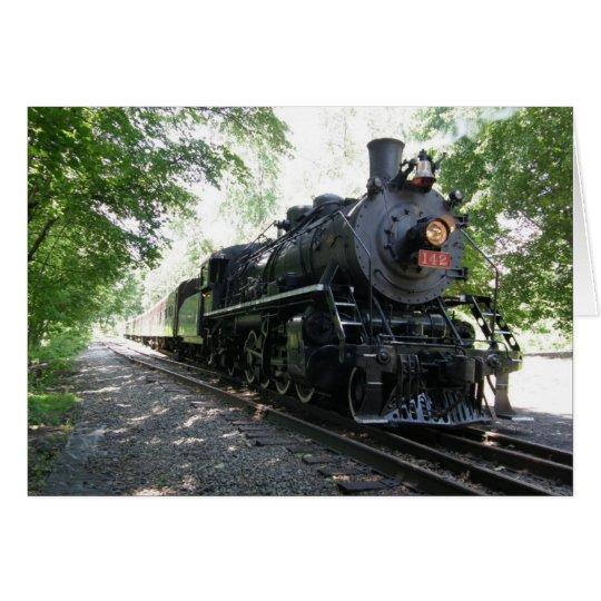 New York Susquehanna and Western Steam Locomotive Card
