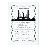 New York Sweet Sixteen Invitation