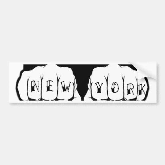 New York Tattoo Bumper Sticker