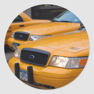 New York Taxi Cabs Classic Round Sticker