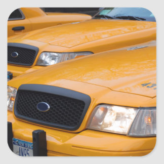 New York Taxi Cabs Square Sticker