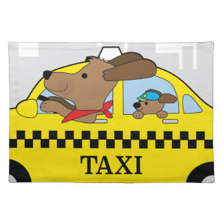New York Taxi Dog Cloth Placemat