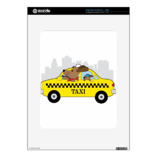 New York Taxi Dog Decal For iPad