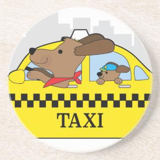 New York Taxi Dog Drink Coaster