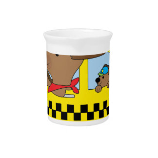 New York Taxi Dog Drink Pitcher