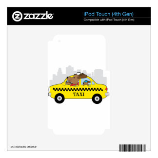 New York Taxi Dog iPod Touch 4G Decal