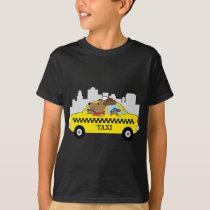 New York Taxi Dog T-Shirt