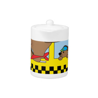 New York Taxi Dog Teapot