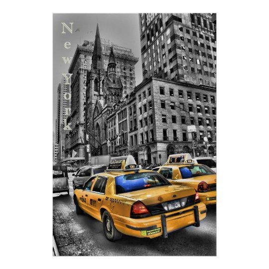 Poster New York Taxi.New York Taxi Poster Zazzle Com