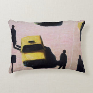 New York Taxis 1990 Decorative Pillow