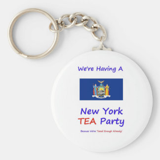 New York TEA Party - We're Taxed Enough Already! Keychain
