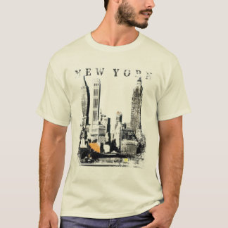 New York Tee with Skyscrape Silhuette